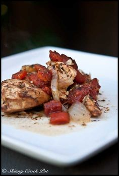 Skinny Crock Pot Balsamic Chicken