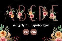 NEW! Floral Monogram Letters