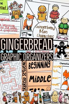 Gingerbread week and gingerbread focus. Graphic organizers and anchor chart pieces for all the gingerbread books! Teacher Tools, Teacher Resources, Teaching Ideas, Classroom Resources, Math Notebooks, Reading Lessons, Holiday Activities, Graphic Organizers, Anchor Charts