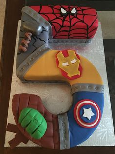Beautiful Image of Avenger Birthday Cake - Tortendeko - . Beautiful Image of Avenger Birthday Cake – Tortendeko – Avengers Birthday Cakes, 5th Birthday Cake, Superhero Birthday Cake, Themed Birthday Cakes, Superhero Party, 3rd Birthday Parties, Birthday Ideas, Avenger Birthday Party Ideas, Superhero Spiderman