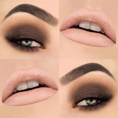"Dark Truffle and Sugar lips Products used: BROWS: Dipbrow ""Granite"" EYES: Bon Bon palette ""Dark Truffle"", ""Pecan Praline"", ""Mocha"" & ""Molasses Chip"" and in ""Iconic"" LIPS: Melted Liquified Long Wear Lipstick ""Sugar"" Beauty Makeup, Eye Makeup, Smokey Eye For Brown Eyes, Smoky Eye, Neutral Eyeshadow, Long Wear Lipstick, Eyebrows On Fleek, Sugar Lips, Lip Designs"