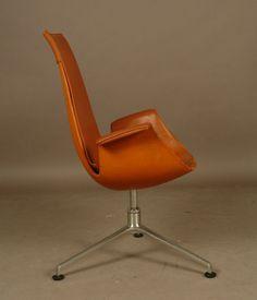 Chaise Fauteuil DE Bureau Design Scandinave Vintage DE Fabricuis Kastholm