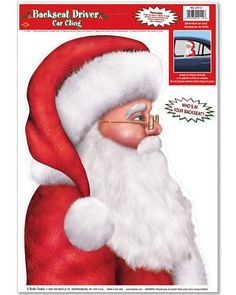 b0f4a3acb658a New Christmas Back Seat Driver Santa Claus Car Cling Decoration 12-17