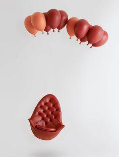 CJWHO ™ (Balloon Chair by h220430   via Pop-art meets...)