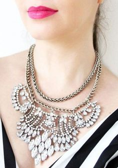 Collar Llamativo Glamour Lujoso