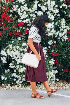 How to Survive High School - P31Beauty #modestfashion #skirt #highschool