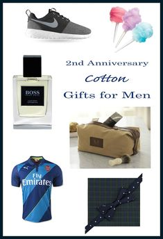2nd Anniversary Cotton Gifts for Men #anniversary #gifts #giftideas