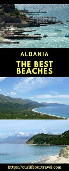 Check out the best beaches in Albania! The list contains our favorite stops along the coast too. Weather sunbathing and water sports, or visiting cultural sight, this guide is for you! Best Places In Europe, Travel Tips For Europe, Top Travel Destinations, Places Around The World, Travel Around The World, Budget Travel, Albania Beach, Albania Travel, Road Trip Hacks