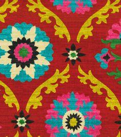 Home Decor Print Fabric-Waverly Mayan Medallion Desert Flower