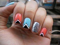 silver glitter nail art