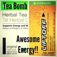Awesome energy!!! -Herbalife tea mixed with Herbalife Liftoff.- To order: chargersfam4@hotmail.com