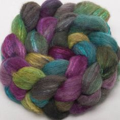 Oatmeal BFL Tussah SILK Extra Soft Handpainted 100g top roving spinning fibre - Dare to dream (12.99 GBP) by YummyYarnsUK