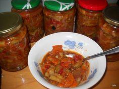 Reteta culinara Ghiveci pentru iarna din categoria Conserve. Cum sa faci Ghiveci pentru iarna Salsa, Mexican, Meat, Chicken, Ethnic Recipes, Canning, Salsa Music, Mexicans, Cubs