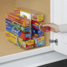 Tips to Organize Every Room in the House - Adjustable Plastic Wrap, Wax Papr and Storage Baggie Organizer and Dispenser Kitchen Wrap, Kitchen Ikea, Small Kitchen Appliances, Kitchen Storage, Cool Kitchens, Messy Kitchen, Kitchen Dining, Kitchen Cabinets, Pantry Storage
