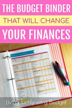 The Budget Binder That Will Transform Your Finances - Finance tips, saving money, budgeting planner Monthly Budget Planner, Excel Budget, Budget Spreadsheet, Budget Binder, Sample Budget, Budget Tracking, Making A Budget, Making Ideas, Budget Help