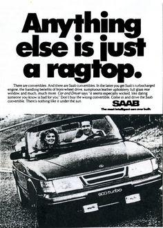 Saab 900 Convertible Print Ad – 1989 | Saab History