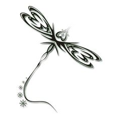 Tattoos Tribal Dragonfly Cross Tattoo Cover-small one behind the ear?
