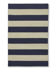 Wide Stripe Dhurrie Rug #WilliamsSonoma