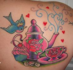 tea party tattoos | My Tea Party (finished!) by Sunny Buick , originally uploaded by ...