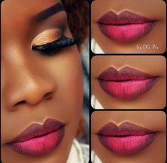 trendy makeup looks for black women brown skin lip colors Contour Makeup, Flawless Makeup, Gorgeous Makeup, Lip Makeup, Makeup Tips, Makeup Ideas, Beauty Makeup, Eyeliner Makeup, Makeup Brushes