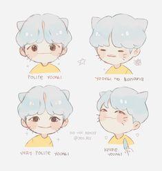"""cryharu: """"lil meow meow I upload more on twt Yoonmin Fanart, Jimin Fanart, Kpop Fanart, Bts Memes, Namjoon, Bts Drawings, Bts Chibi, Bts Fans, Art Challenge"""