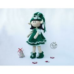 Elf doll knitted flat Knitting pattern by Crochet Yarn, Knitting Yarn, Crochet Hooks, Sirdar Knitting Patterns, Boucle Yarn, Elf Doll, Halloween Books, Plymouth Yarn, Cascade Yarn