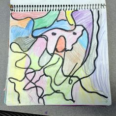 A journal entry by one of my art journaling students at the Ontario school.  :]