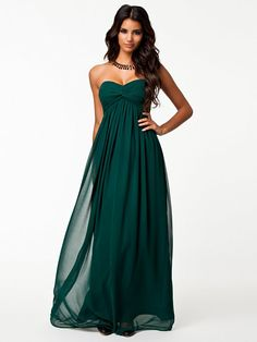 Dreamy Dress - Nly Trend - Emerald Green - Party Dresses - Clothing - Women - Nelly.com Uk
