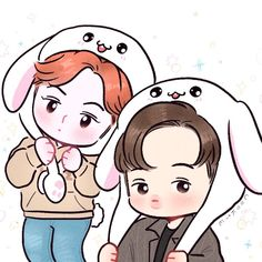 Exo Cartoon, Cartoon Art, Exo Kai, Sehun, Park Chanyeol, Chibi, Exo Anime, Exo Lockscreen, Exo Fan Art