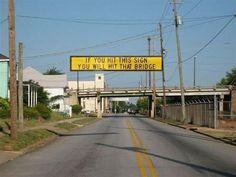 Helpful sign. LOL!