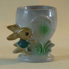 Vintage 50's Sweet Bunny Rabbit Egg Cup