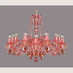Chandelier | Loving the blush color.  Would like it even more if it was faded out a bit further.  With less intensity, I think this piece would look ethereal.  Still, interesting.  I like.