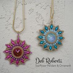 Starflower Pendant & Ornament   Bead-Patterns.com