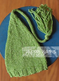 spring green newborn knit hat