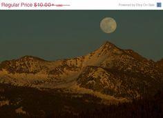SALE  20% OFF  Yosemite Mooonrise  Landscape by JoshFriedmanPhoto