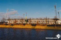 Arke stadion. Het voormalig stadion van FC Twente voor de uitbouwing en de naamsverandering naar de Grolsch Veste.