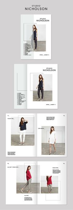 A redesign of the SS'13 Studio Nicholson lookbook.