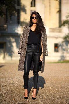 Street Style: Barbara Martelo | Leather + Leopard In Paris (via Bloglovin.com )