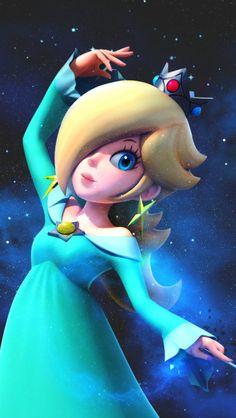Rosalina from 'Super Mario Galaxy' Super Mario 1985, Mundo Super Mario, Super Mario Princess, Nintendo Princess, Super Mario Art, Princesa Daisy, Princesa Peach, Harmonie Mario, Rosalina Cosplay