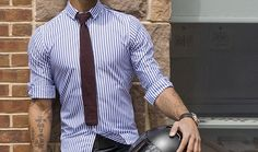 Tie and tailored shirt