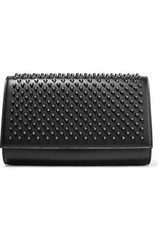 Christian Louboutin - Paloma Studded Leather Clutch - Black - one size