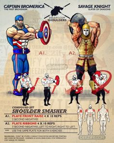 Shoulder Smasher - Hammer Those Stubborn Delts A Weight Plate #ShoulderDay #tbt #america #captainamerica #workout