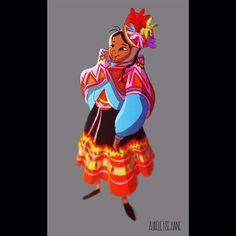 posted by aurelieliseanne via instagram :   Something for fun after painting backgrounds all day.  #animation #student #digital #art #digitalart #characterdesign #visdev #sketch #doodle #scribble #drawing #illustration #girlsinanimation #traditional #colors #artist #artgram #instaart #artistoninstagram #artwork #girl #character #design…