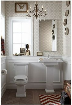 darling for a small bathroom.
