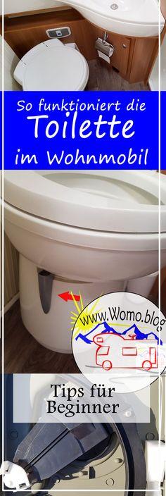 Die Toilette im Wohnwagen und Wohnmobil funktioniert anders, wie zuhaus. So geht es #Caravan #Caravaning #Wohnmobil  #Toilette #Beginner #Anfänger #FAQ #WC #Klo #Technik