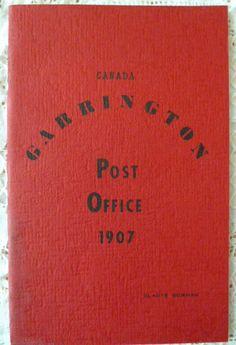 Garrington Post Office 1907 History Booklet Alberta Canada by Gladys Bowman 1969 | eBay