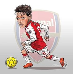 Mesut Ozil Arsenal, Swag Cartoon, World Football, Fictional Characters, Football Shirts, Fantasy Characters