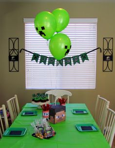 Minecraft Birthday Party... Lori this made me think of two people ; )