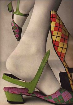 Outbreak Of Argyle  By Evelyn Schless,  Vogue 1960s
