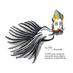 fig. 2013 - Bird of paradise - To offer to wish a soft, colourful and slightly crazy new year - by Zélie